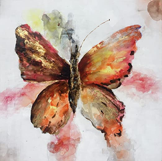 Modern Art Home Decor Abstract Butterfly Oil Painting Picture Printed On Canvas
