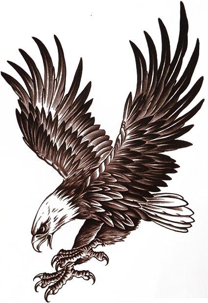 COKOHAPPY Grande Temporales Tatuaje Águila Pájaro Halcón Ala ...