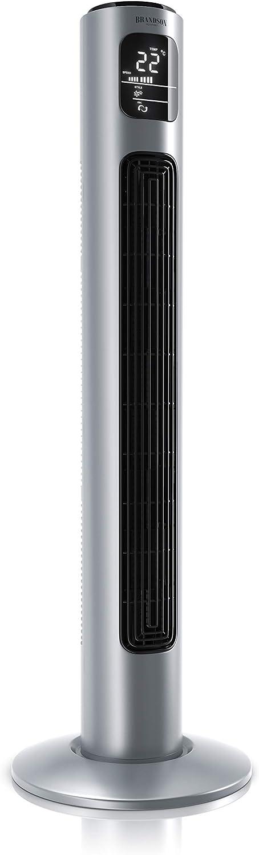 Brandson 684634684 Ventilador de torre (96 cm), color plateado, A: plata de ley, 96cm