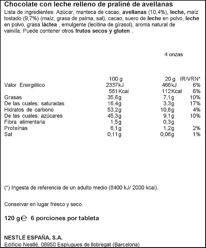 Nestlé Extrafino Tableta de Chocolate con Leche Relleno de Kikos - 120 g: Amazon.es: Amazon Pantry