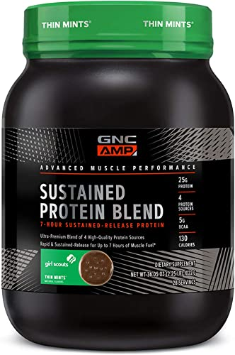 GNC AMP Sustained Protein Blend – Girl Scouts Thin Mints