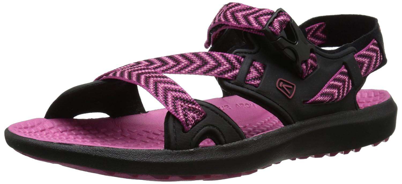 KEEN Women's Maupin Sandal B00ZG2R7RG 6 B(M) US|Black/Very Berry