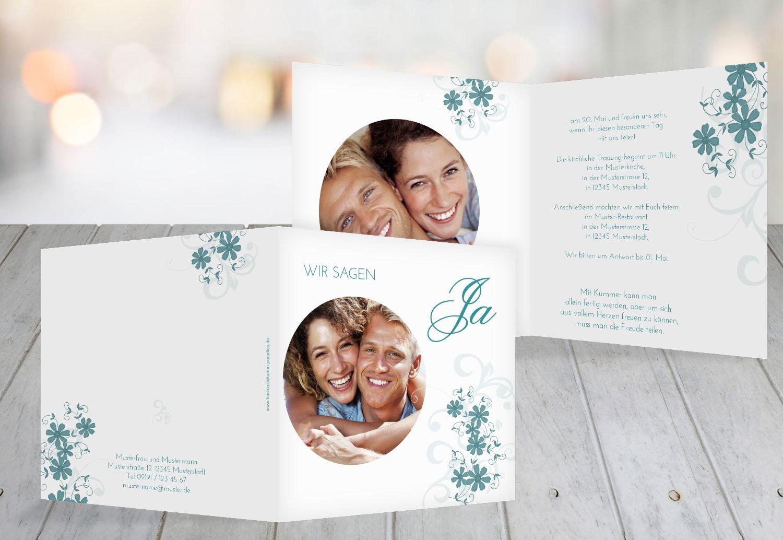 Wedding invitations ranke türkisblaukräftig 60 karten amazon co uk kitchen home