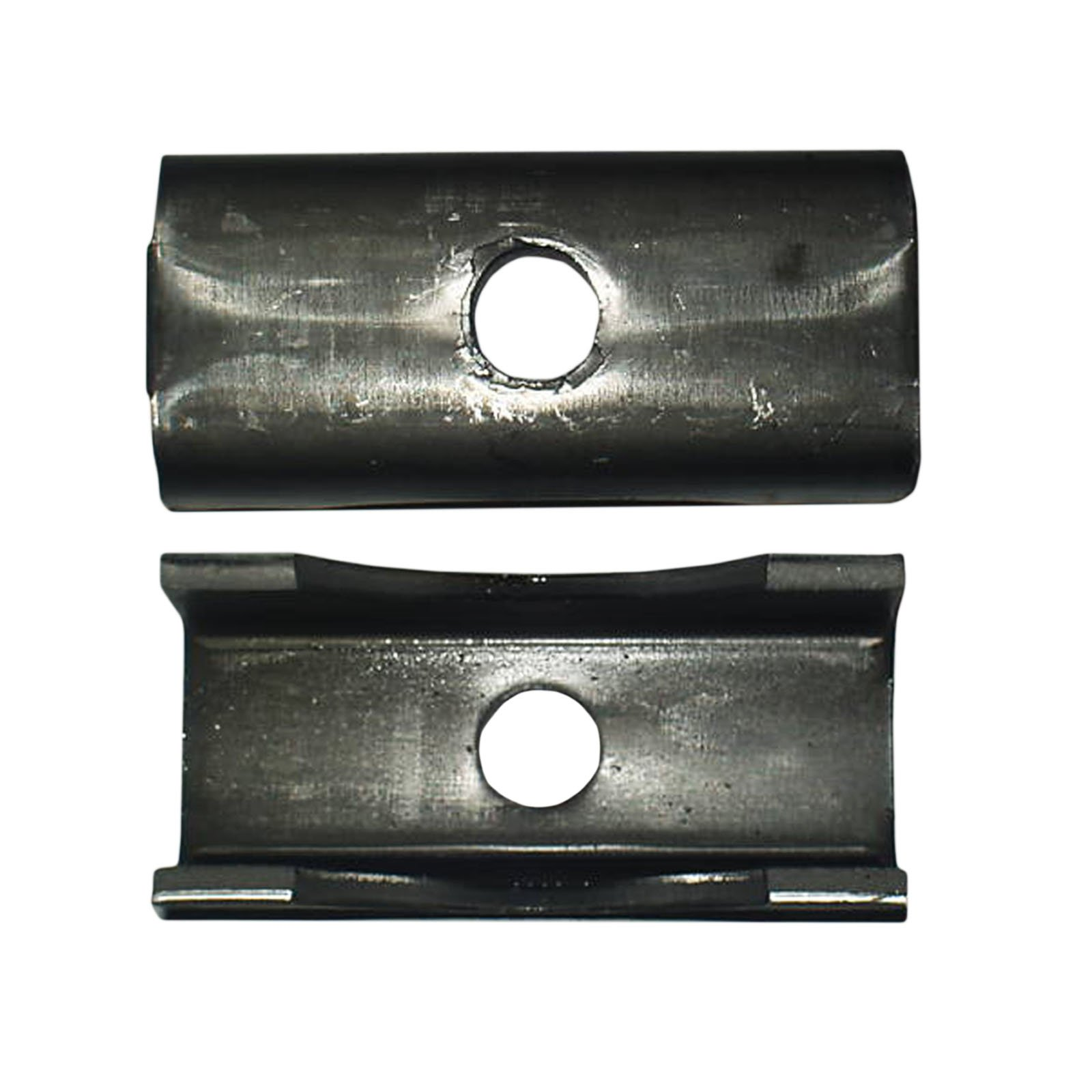 Pack of 2 Weld On Trailer Raw Steel Axle Spring Perch Seat 3'' Round Axel 7000 6000 5200# Capacity Series by BII by eKoi