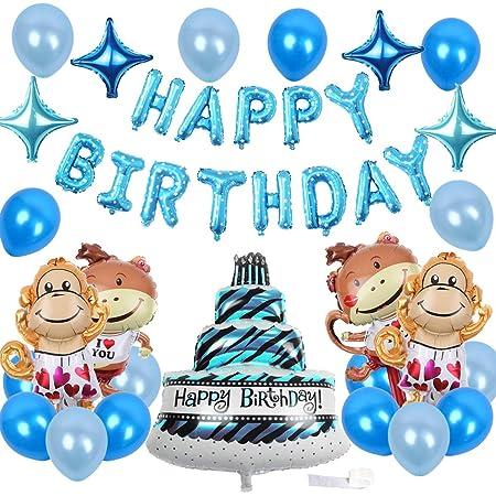 Mono Decoraciones de cumpleaños Paquete de decoraciones de ...
