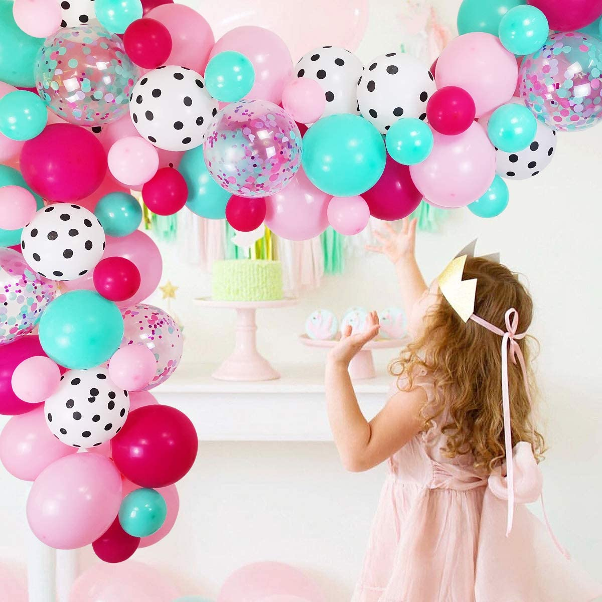 Lol Party Balloon Decoration Party Supplies for Girl Birthday Doll Latex Balloons Confetti Balloon for Baby Shower Kids Girls Boys Surprise Birthday Surprise Party Supplies