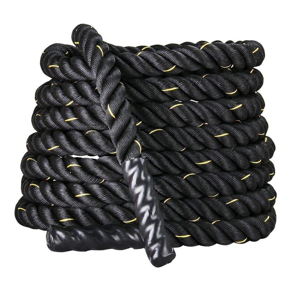 Display4top Cuerda de Batalla Battle Rope - Ancho de 38mm Poly Dacron 9m / 12m / 15m Longitud Ejercicio Cuerdas de Undulación (38mm * 15m)