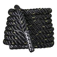 Display4top Corde de Bataille 9m/12m/15m Corde Entrainement Corde de Fitness Bataille Ondulatoire pour la Musculation Formation