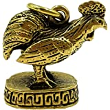 1 Box/set Powerful chicken rooster lp' Larn magic amulet brass pendant life protection with amulet necklace & special gift