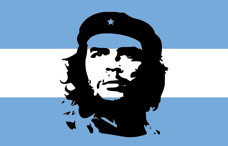 Michael Rene Pflüger Barmstedt Auto Aufkleber Fahne Von Argentinien Mit Che Guevara Sticker Motorrad Bike Auto