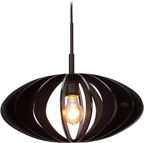 Woodbridge Lighting 14023MEB-W1D1WG Canopy Wenge Wood Pendant, Metallic Bronze