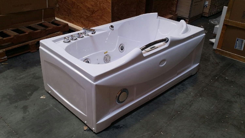 1 Person Whirlpool Massage Hydrotherapy White Bathtub Tub, Bluetooth ...