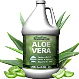 Organic Aloe Vera Gel - 1 Gallon - Made from 100% Pure Aloe Leaf Gel Hydrating Gel Organic Aloe for Healthy Skin, Hair…
