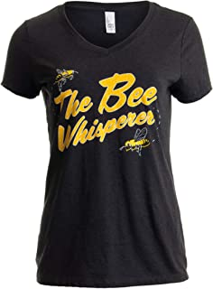 a0e03166 The Bee Whisperer | Beekeeper Beekeeping Keeper Keeping V-Neck T-Shirt for  Women
