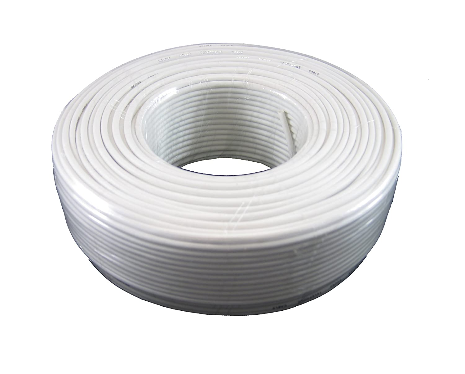 Amazon.com: Phone Cable 300ft Rounded White Roll (100 M - 328 ft ...