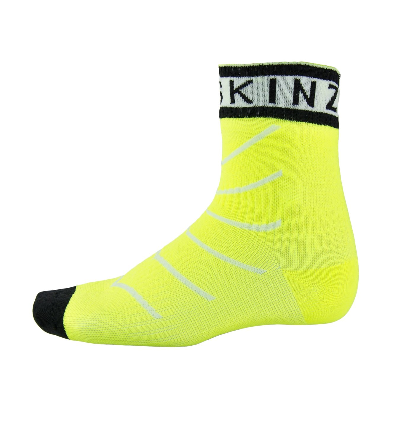SEALSKINZ Super Thin Pro Ankle Sock with Hydrostop Neon Yellow/White/Black, XL - Men's by SEALSKINZ