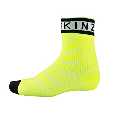 Seal Skinz Ankle Length Waterproof Sock Calcetines, Hombre, Neon Yellow/White/Black