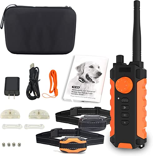 Anti-bark Dog Training Kit Shock Collar for Dogs Waterproof, Rechargeable Dog Shock Collar with Remote No Harm Dog Training Collar Fast Training Effect for Small Medium Large Dogs Petsafe Barking Set