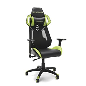 RESPAWN-200 Racing Style Gaming Chair - Ergonomic Performance Mesh Back Chair, Office or Gaming Chair (RSP-200-GRN)