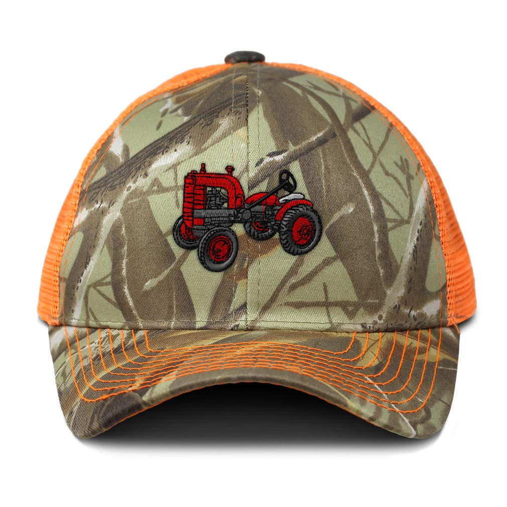 Custom Camo Mesh Trucker Hat Tractor Machine A Embroidery Cotton One Size