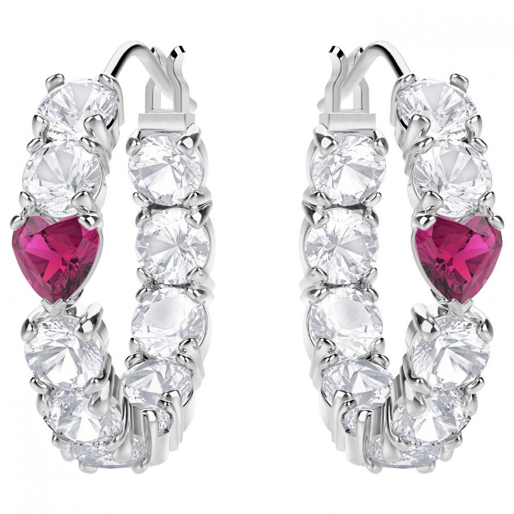 Swarovski Hoop Earrings 5391763 Silver Woman Love