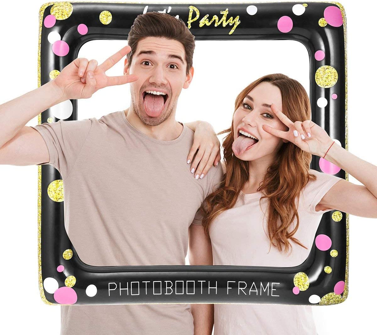 Inflatable Selfie Picture Frame Blow Up Photo booth Party Deco Prop Accessory