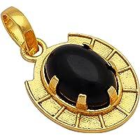 Shree Shyam Gems and Jewellery Golden Brass Shani Kavach Nazar Stone Pendant for Men and Women