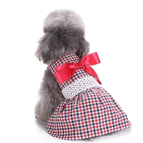 Vestido de perro Yuno Sweetie cinta ropa de perro acogedor camisa de perro mascota princesa vestido