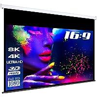 "eSmart Germany MIROLO Rollo-Leinwand [Größenauswahl] 266 x 149 cm (120"") 16:9 | Vollmaskierung | Heimkino Beamer Projektionsleinwand Rollo Leinwand LCD LED"