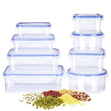 Deik Food Storage Containers, Lunch Box, Plastic Containers With Snap  Locking Lid, BPA
