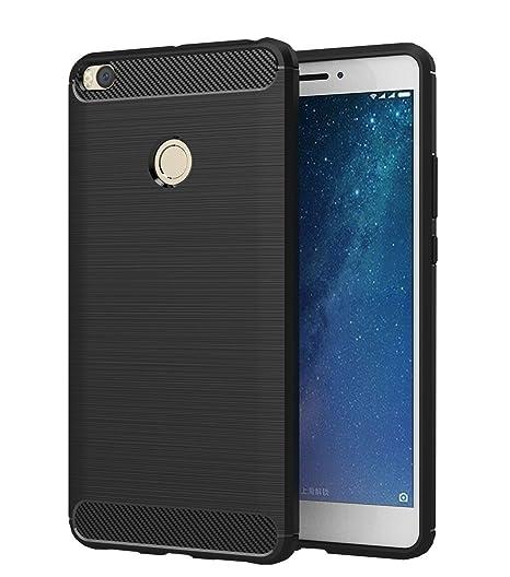 PREVOA Funda para Xiaomi Mi Max 2 - Colorful Silicona TPU Funda Case Resistente Diseño para Xiaomi Mi Max 2 Smartphone - (Negro)