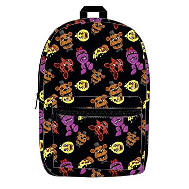 Five Nights at Freddy s Characters Allover Print Backpack Bookbag 8784e27b9497e