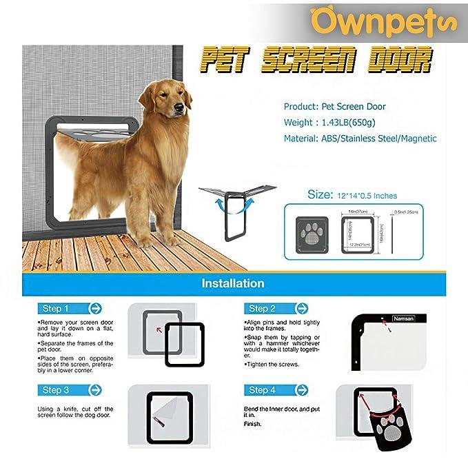 Amazon.com: Ownpets Puerta mosquitera para perros, Puerta ...