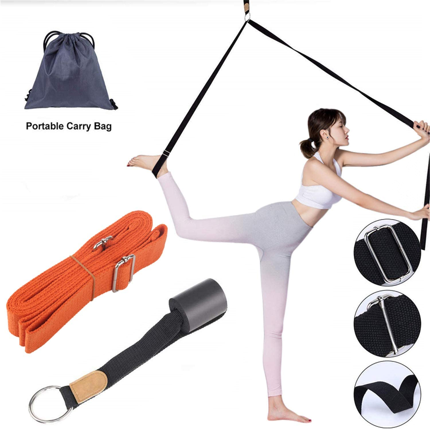 Portable Ballet Stretch Band Leg Door Stretching Strap Dance Exercise Stretcher