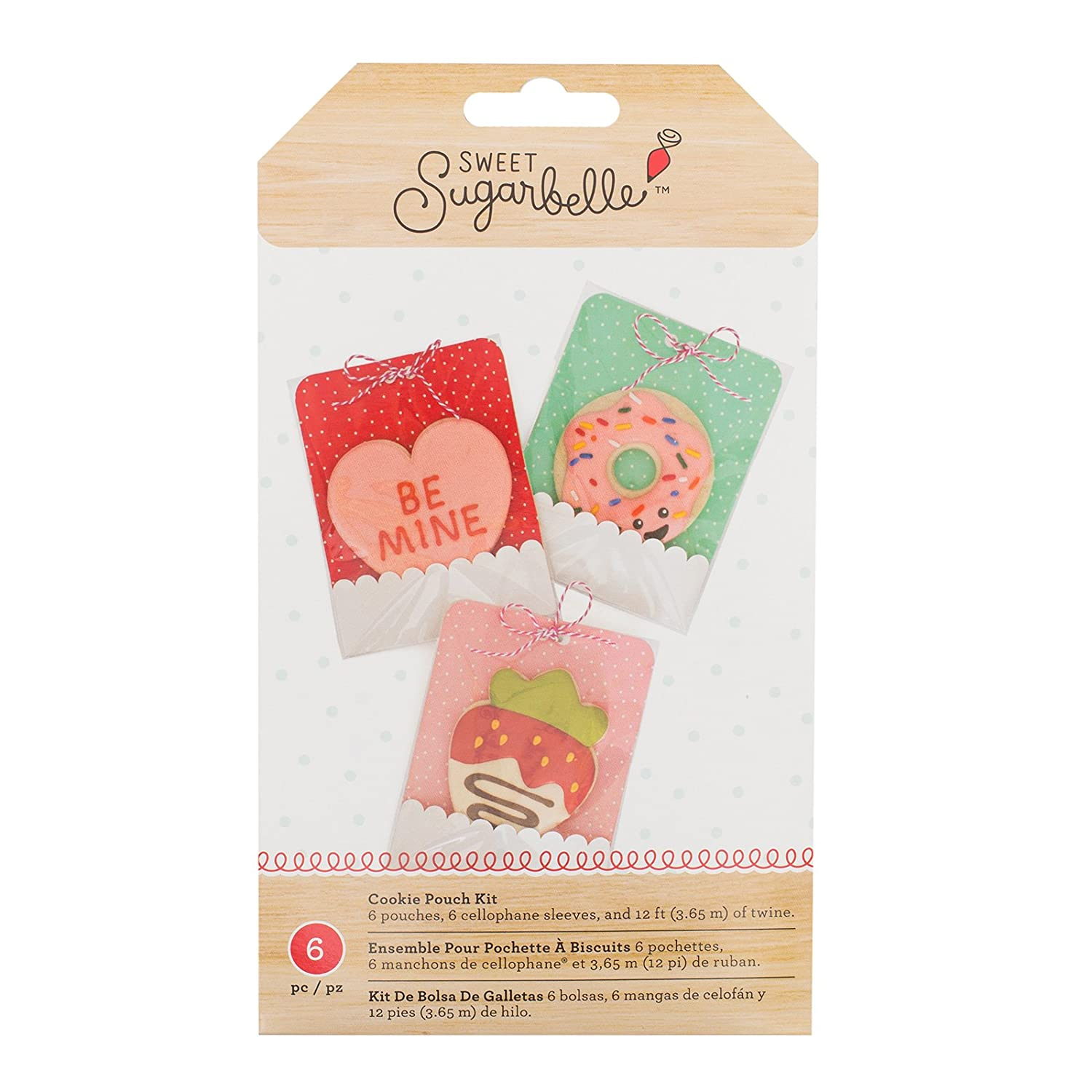 American Crafts 377331 6 Piece Sweet Sugarbelle We Go Together Cookie Pouches