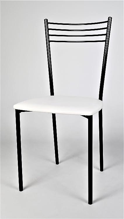 Set 4 sedie per cucina e sala da pranzo, eleganti e moderne, con ...