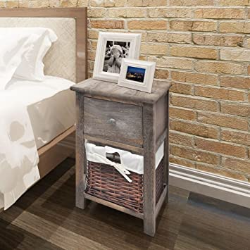 Luckyfu Modern Design Furniture Tables Bedside Tables With Colour: Brown  Long Desk Or Table Shabby