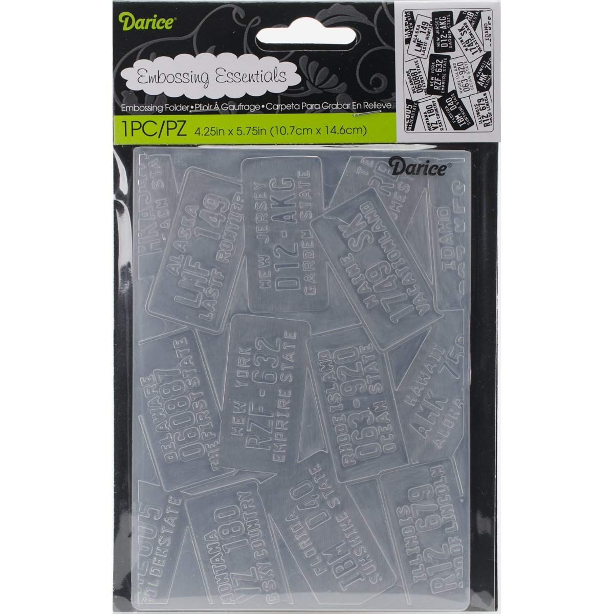 Darice Embossing Folder, 4.25 x 5.75, Dot and Circle EB12-201