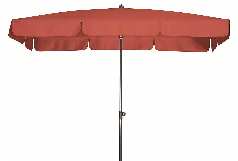 Absolut wasserdichter Gartenschirm Waterproof 260x150 von Doppler mit UV-Schutz 80, Farbe terrakotta