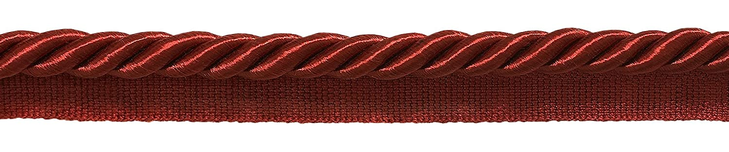 Large 3/8 RED Basic Trim Cord With Sewing Lip, Sold by The Yard , Style# 0038S Color: CHERRY RED -E13 DecoPro