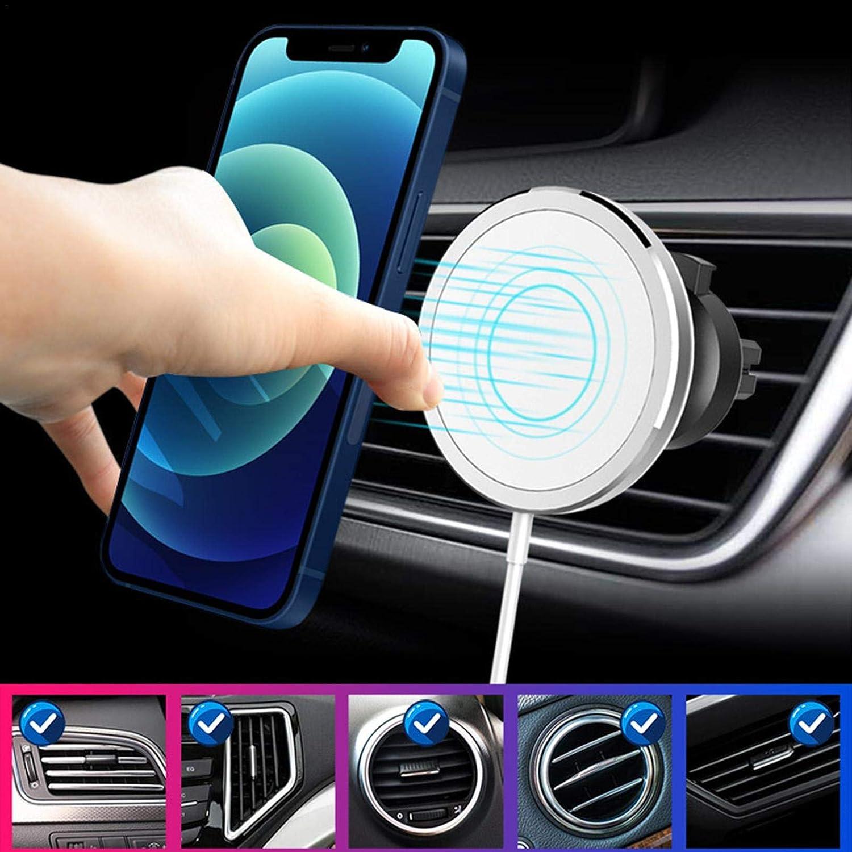 Fortn Chargeur de Voiture sans Fil Chargeur /à Induction Rapide Qi Support de Ventilation de Voiture Compatible avec iPhone 12//12 Mini//12 Pro//12 Pro Max
