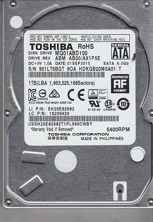 MQ01ABD100, AB00/AX1P5E, HDKGB20M5A01 T, Toshiba 1TB SATA 2.5 ...