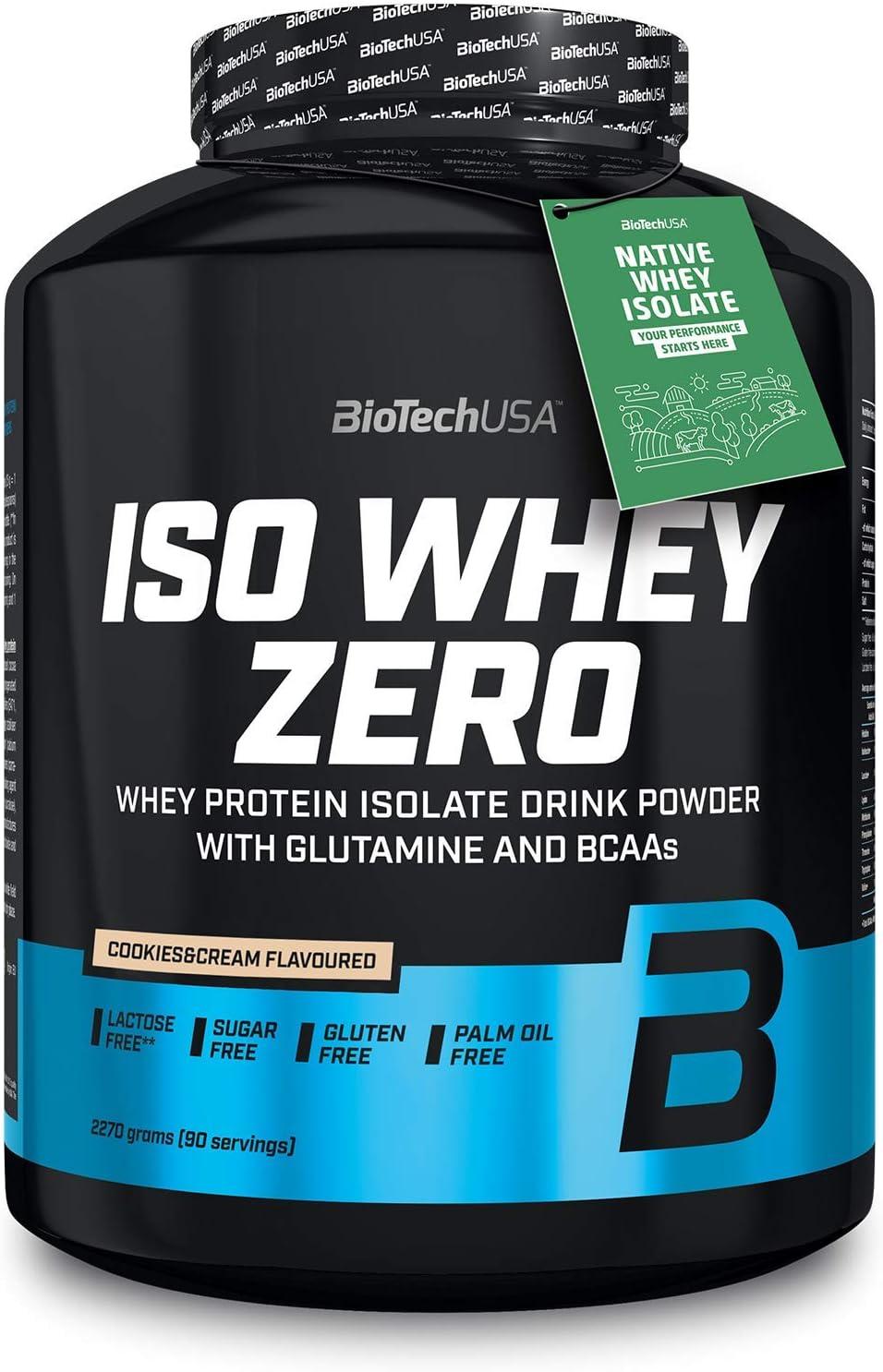 BioTechUSA Iso Whey Zero, 2.27 kg, Cookies & Cream