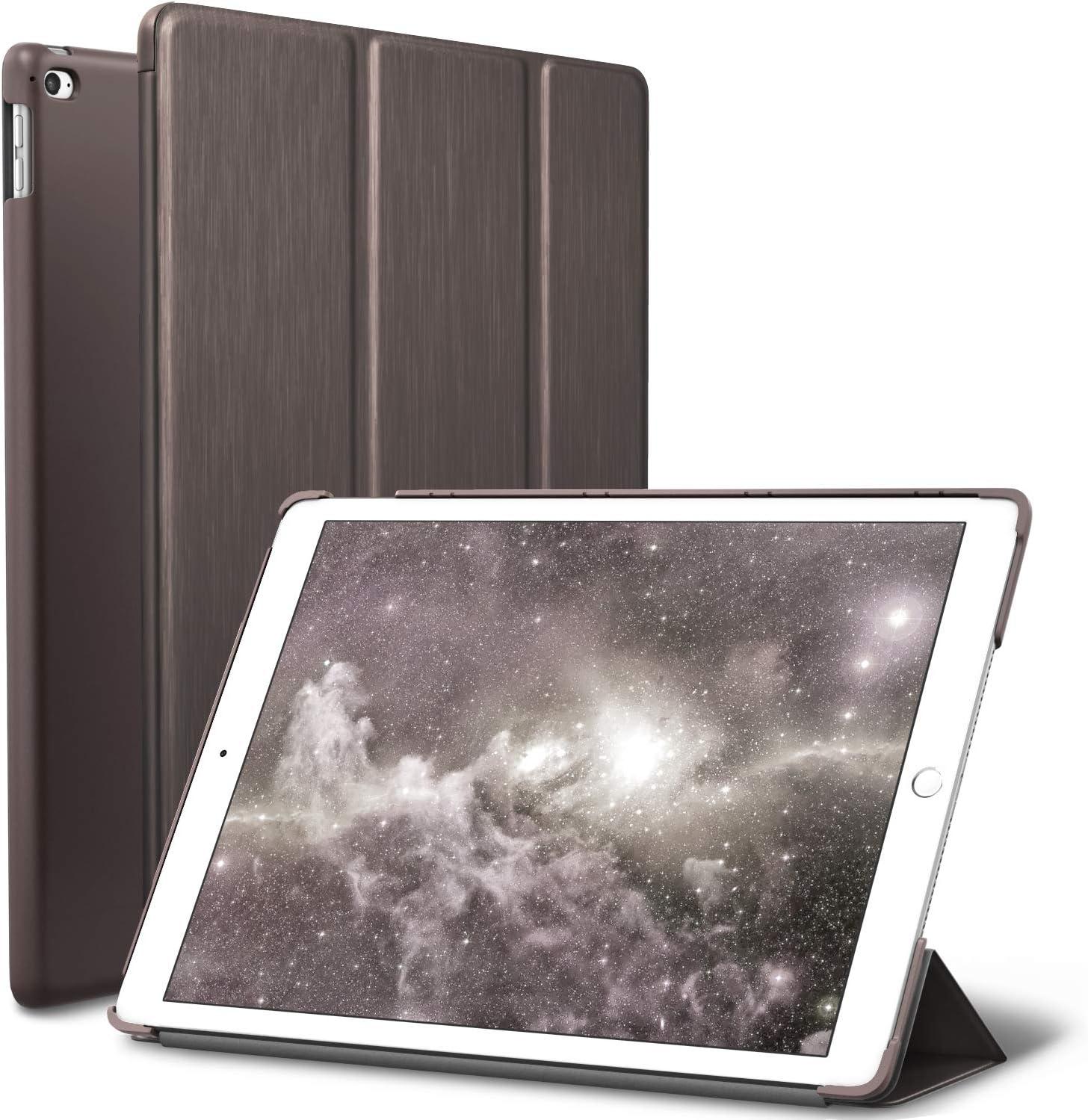 iPad Mini 4 case, ROARTZ Metallic Brown Slim Fit Smart Rubber Coated Folio Case Hard Cover Light-Weight Auto Wake/Sleep for Apple iPad Mini 4th Generation Model A1538/A1550 Retina Display