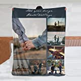 Custom Blanket Personalized Blanket with Photos Text Customized Picture Throw Blanket for Adult Kid Birthday Christmas Hallow