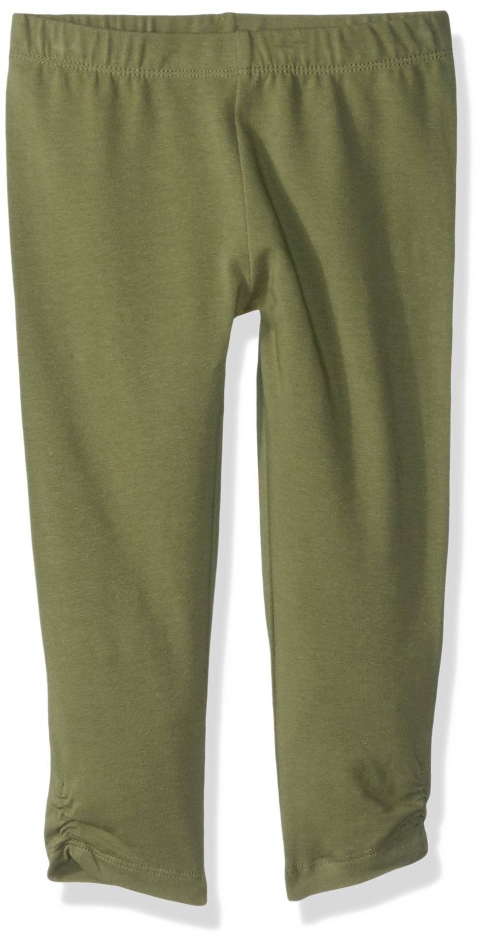 Gymboree Big Girls' Side Cinched Capri Legging, Oilve Solid, XS by Gymboree (Image #1)