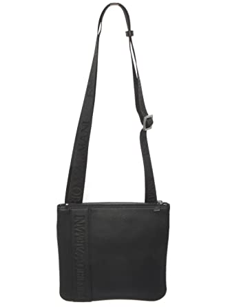 9203d92fafaf Amazon.com  Armani Women s Emporio Logo Embossed Shoulder Bag One Size  Black  Emporio Armani  Shoes
