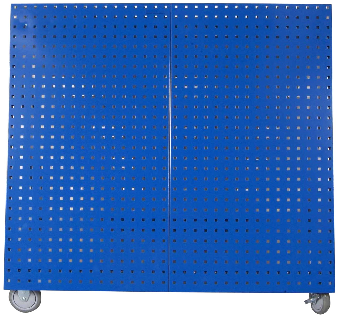 LocBoard LBC-18B Anodized Aluminum Frame Tool Cart with Tray, Blue