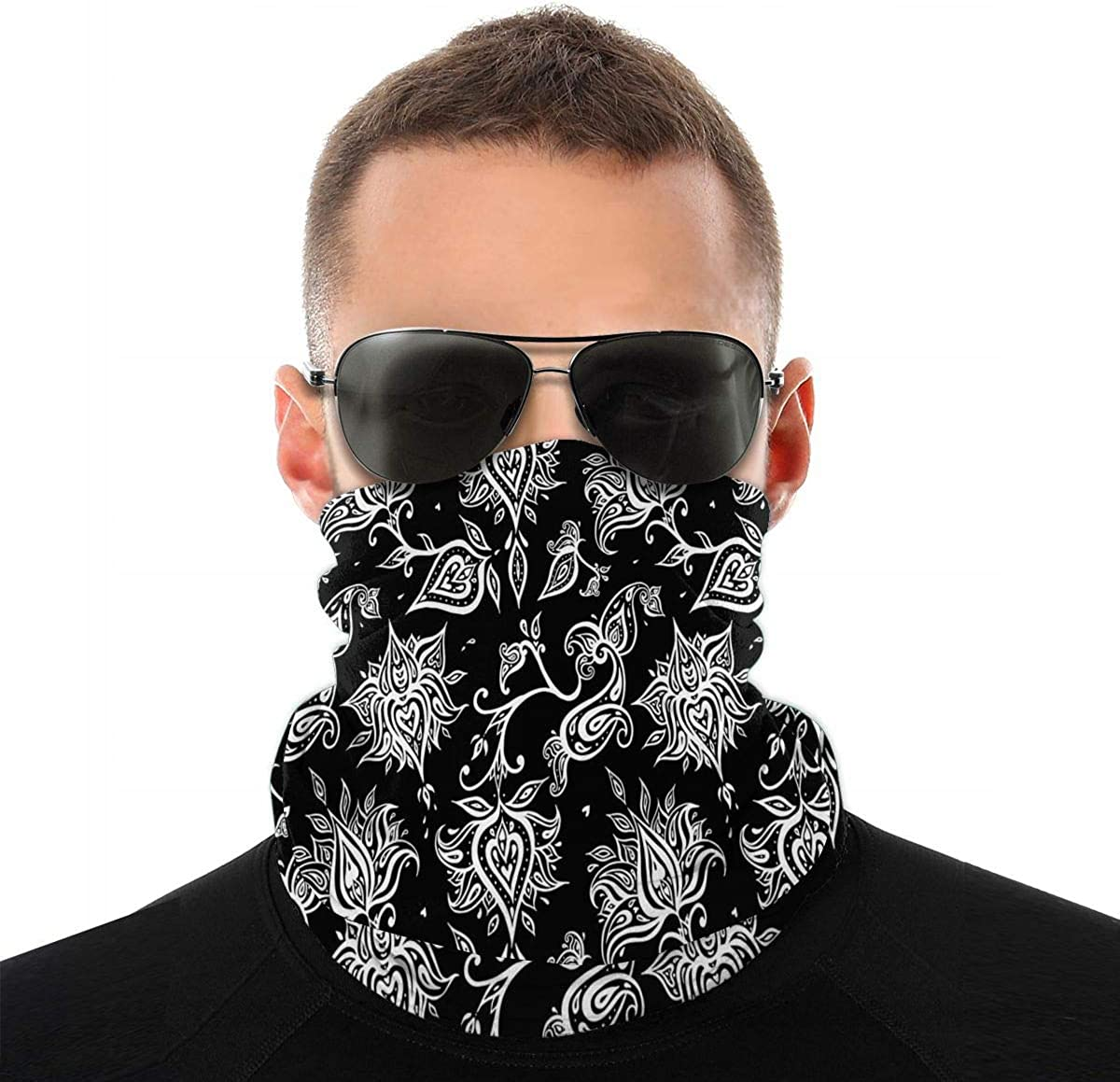 1 PCS Bandanas with Breathing Valve Activated Carbon Filter Replaceable Haze Dust for Adults