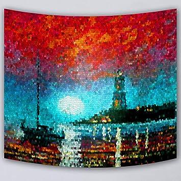 GKLKU Decoración para el hogar Tapiz Colcha Manta Playa Tiro Toalla Impresa Supersoft tapicería Tela fundir, M 136130X150 CM: Amazon.es: Hogar